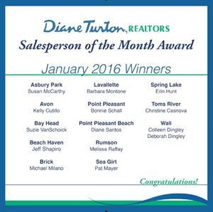 Diane Turton, Realtors Announces January 2016 Salesperson of the Month