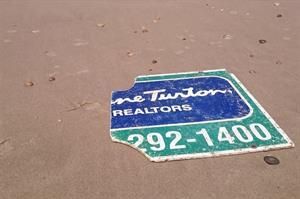 Diane Turton, Realtors Signage  Lands On Beach In Bordeaux, France