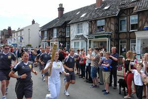 OLYMPIC TORCHES ARRIVES IN ALDEBURGH