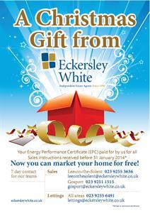 A Christmas gift from Eckersley White
