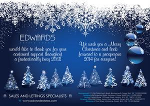 Merry Christmas from all of the team at Edwards !