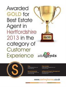 Sterling Awarded Best Estate Agent In Hertfordshire