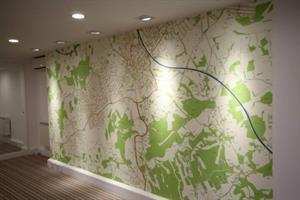 Feature Wall At Our New Bookham Office