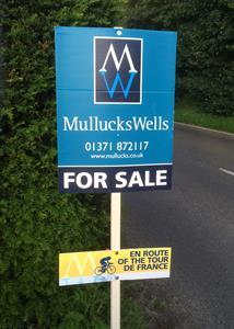 Mullucks Wells celebrates the arrival of the Tour de France