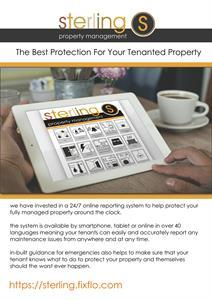 Sterling Lettings & Property Management Offer 24/7 365 Maintenance Reporting For Tenants