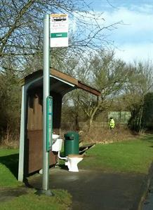 The bus stops in Guildford are so posh they even have en-suites