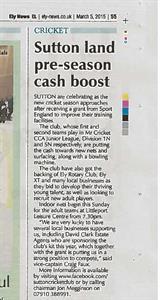 D C & Co Sponsor Sutton Cricket Club