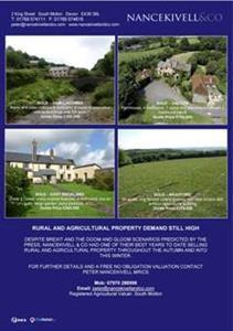 AUTUMN/WINTER RURAL PROPERTY SALES REVIEW 2016/2017