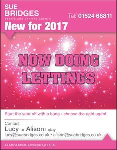 New for 2017 - Sue Bridges Lettings Ltd! That's right; we have branched out and are now offering a Full Lettings and Property Management Service.