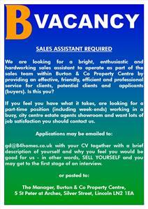 Sales Assistant Required