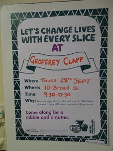 Macmillan Cancer Support - Worlds biggest coffee morning